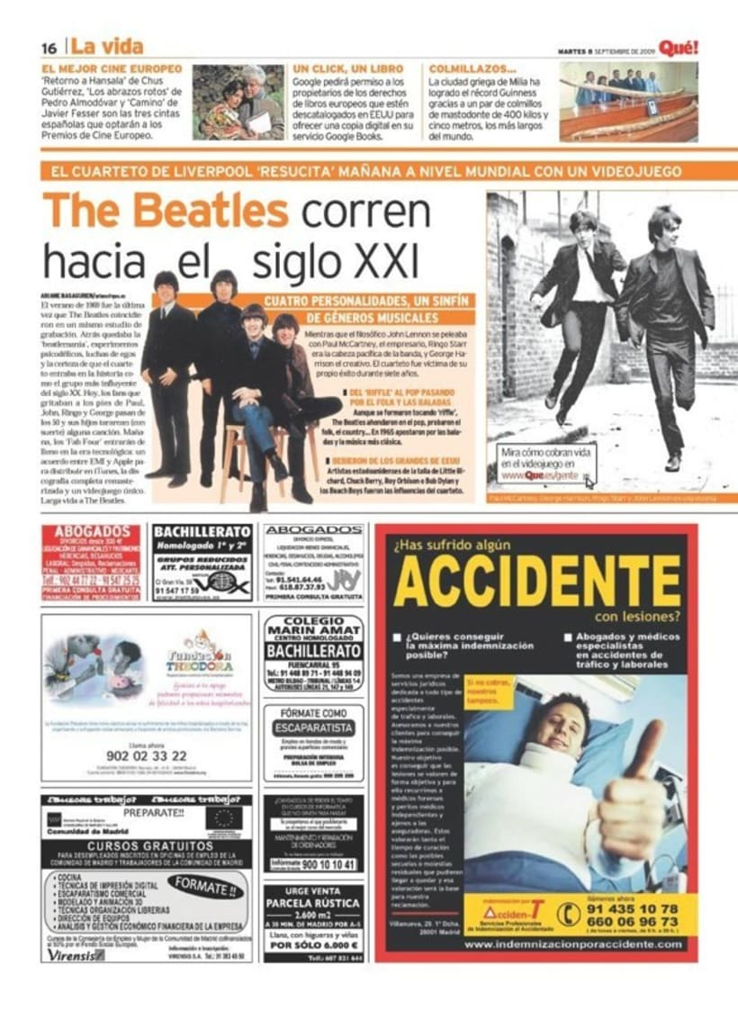 Maquetadora en diario Qué! en diferentes secciones 16
