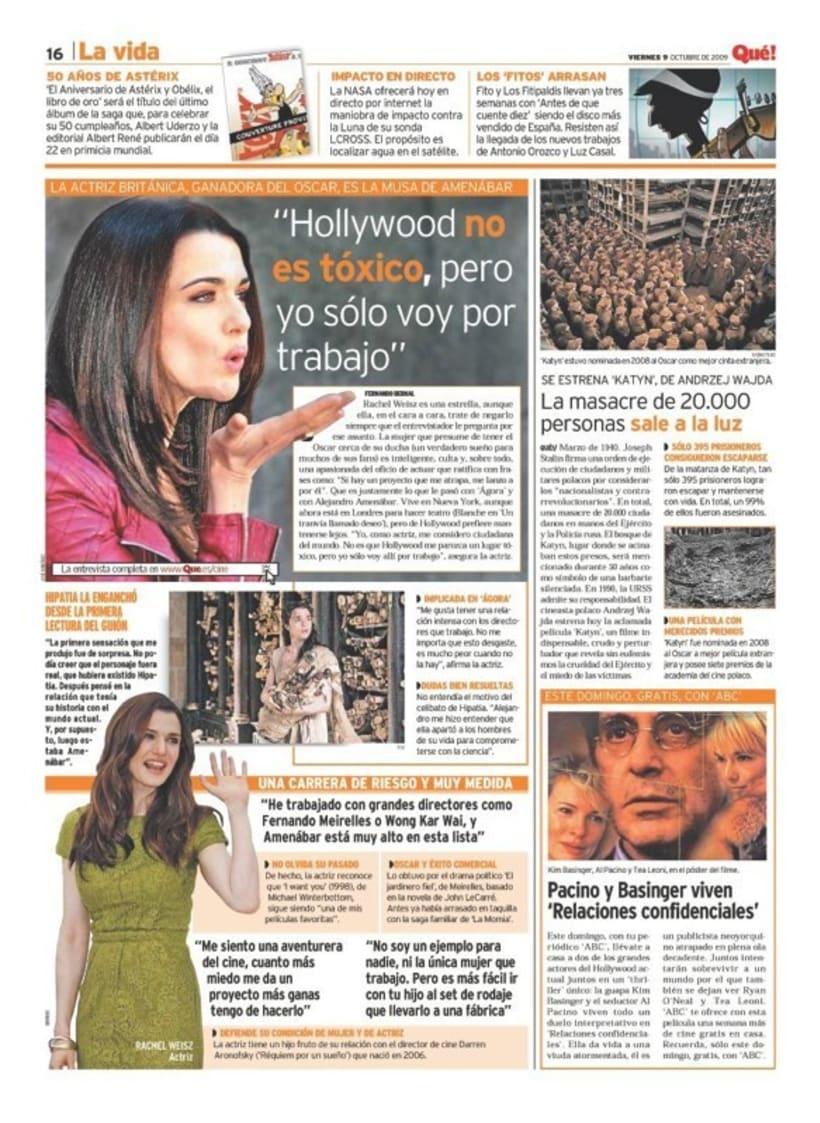 Maquetadora en diario Qué! en diferentes secciones 18