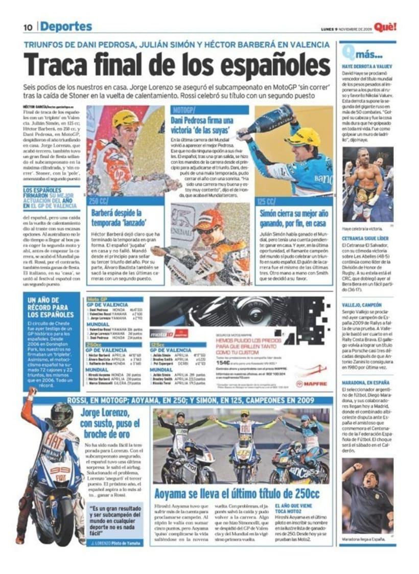 Maquetadora en diario Qué! en diferentes secciones 19