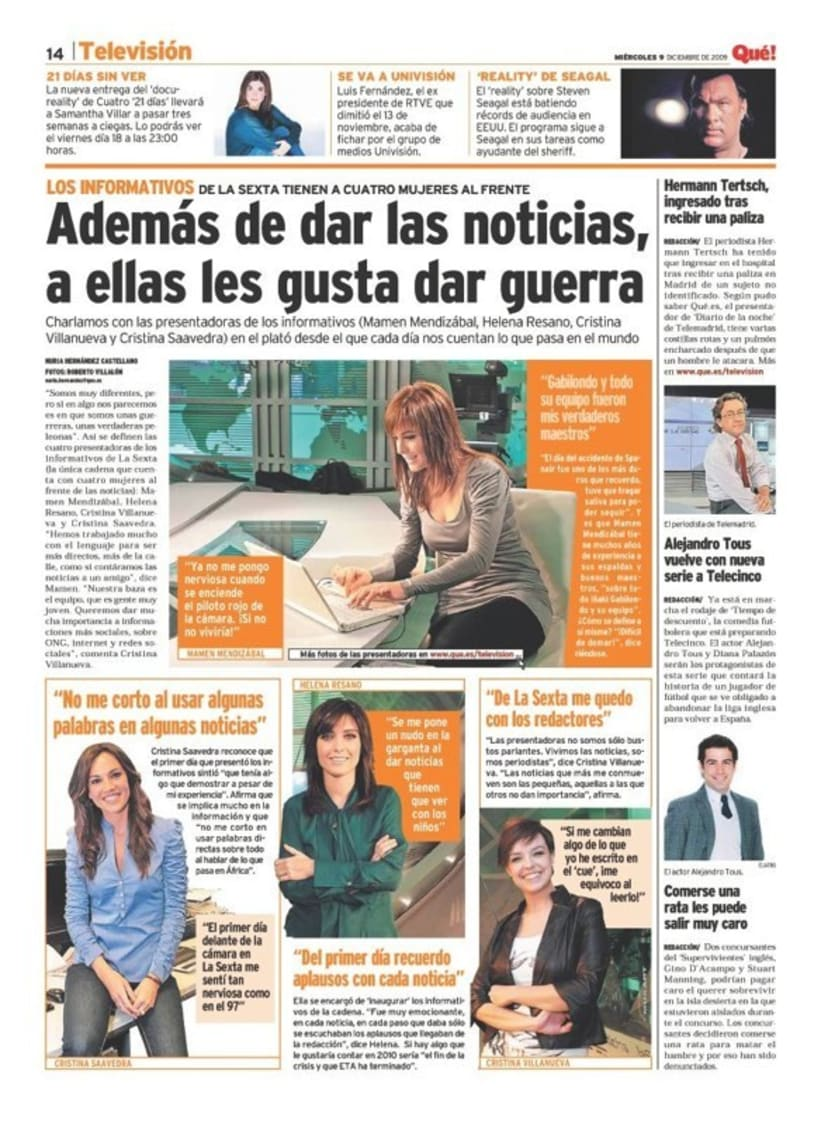 Maquetadora en diario Qué! en diferentes secciones 21