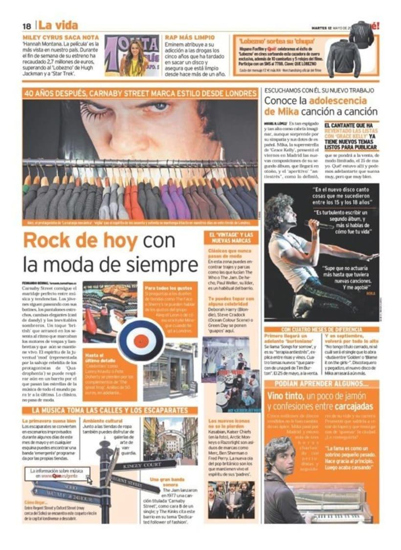 Maquetadora en diario Qué! en diferentes secciones 23