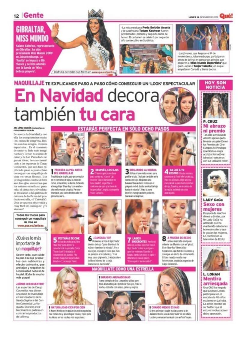 Maquetadora en diario Qué! en diferentes secciones 25