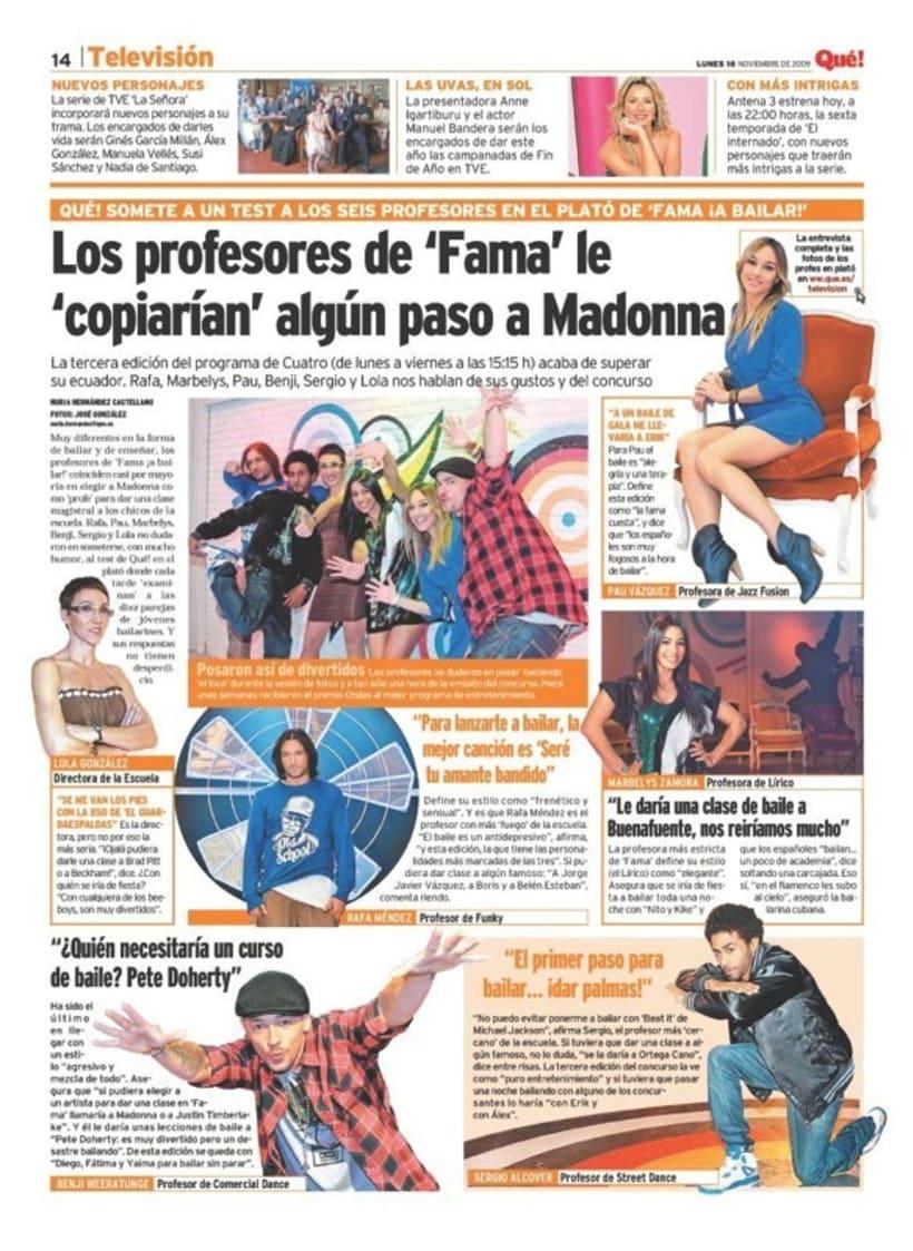 Maquetadora en diario Qué! en diferentes secciones 27