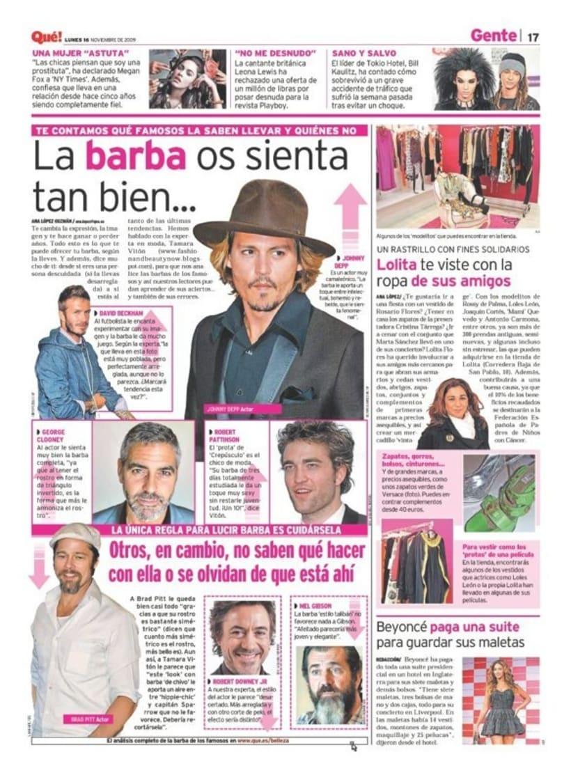 Maquetadora en diario Qué! en diferentes secciones 28