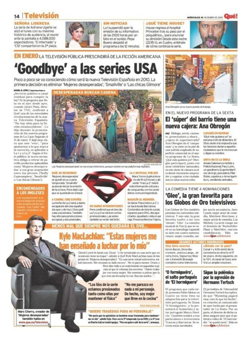 Maquetadora en diario Qué! en diferentes secciones 30