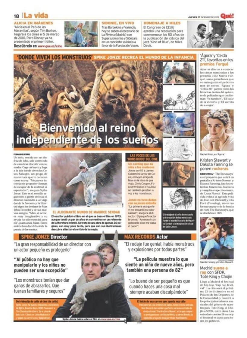 Maquetadora en diario Qué! en diferentes secciones 33