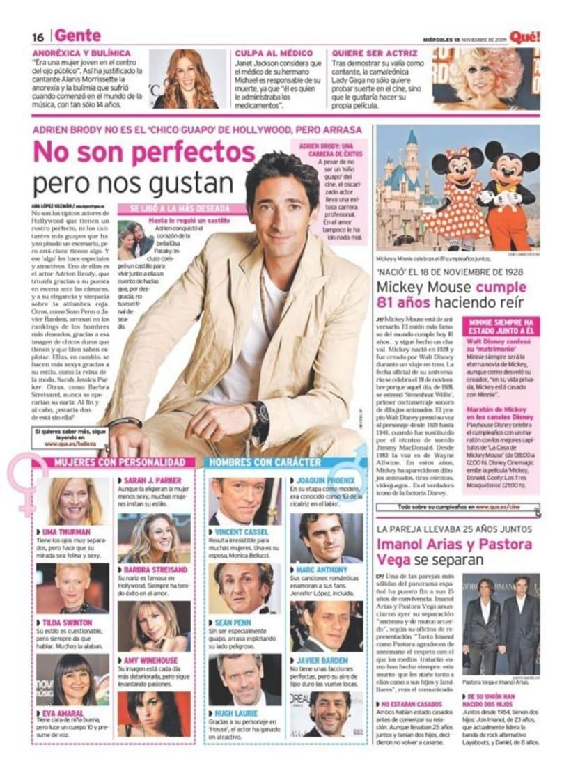 Maquetadora en diario Qué! en diferentes secciones 35