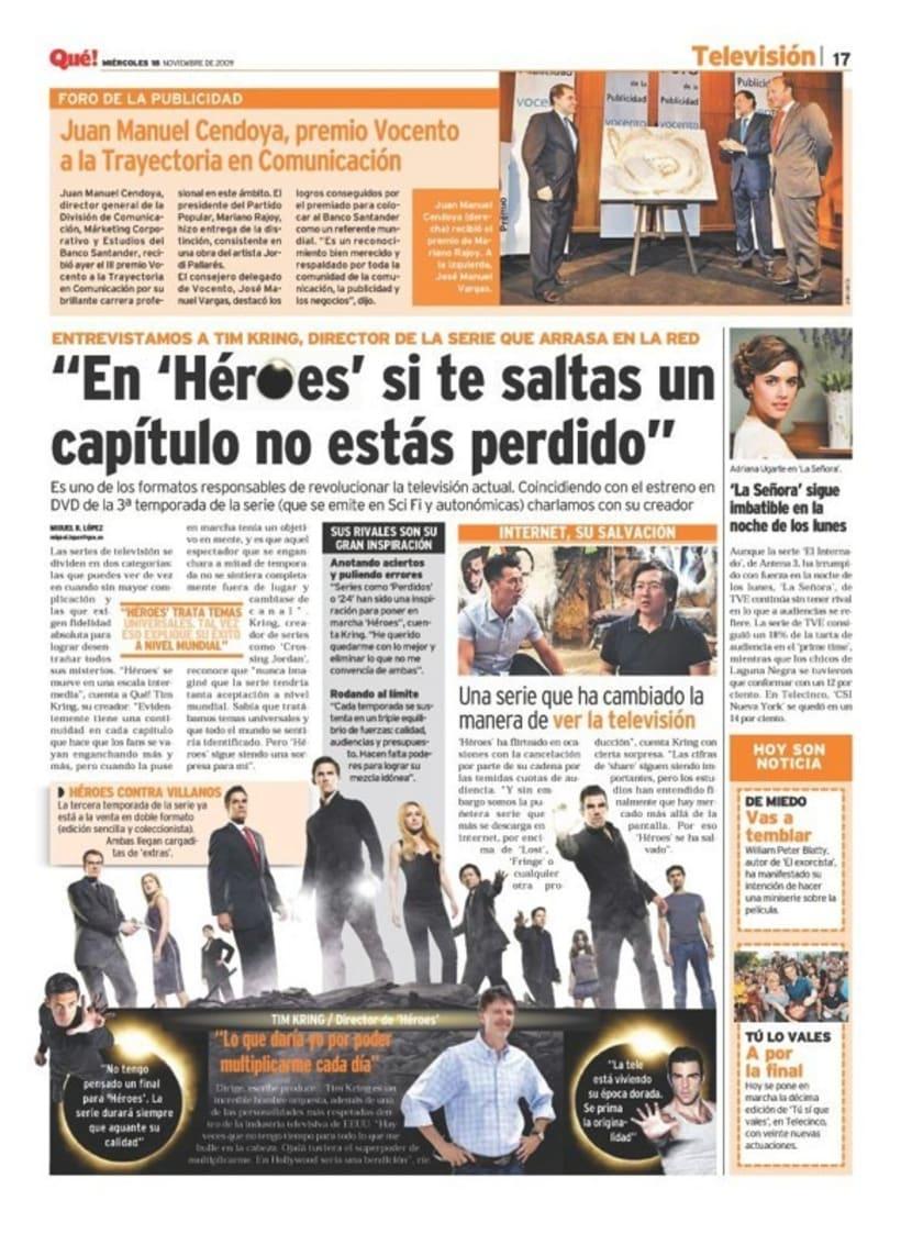 Maquetadora en diario Qué! en diferentes secciones 36