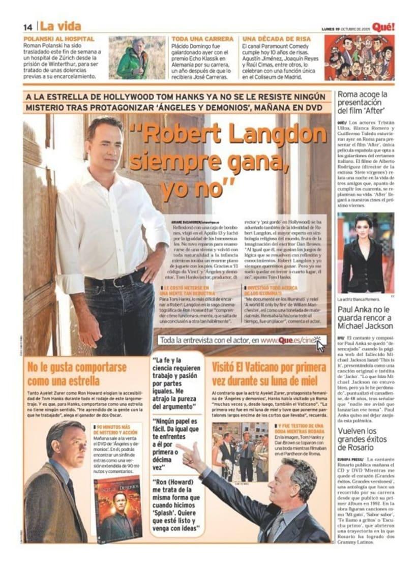 Maquetadora en diario Qué! en diferentes secciones 38
