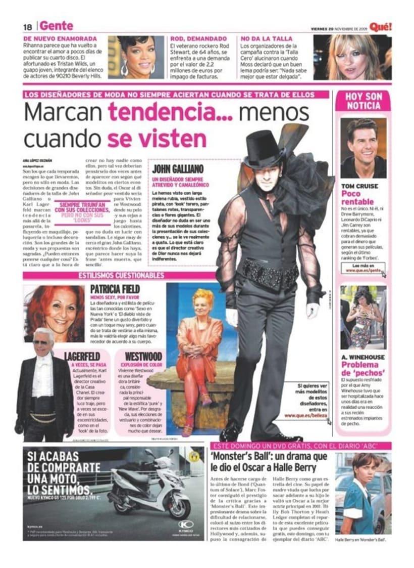 Maquetadora en diario Qué! en diferentes secciones 39