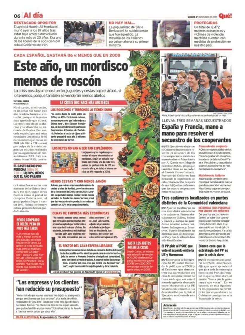 Maquetadora en diario Qué! en diferentes secciones 41