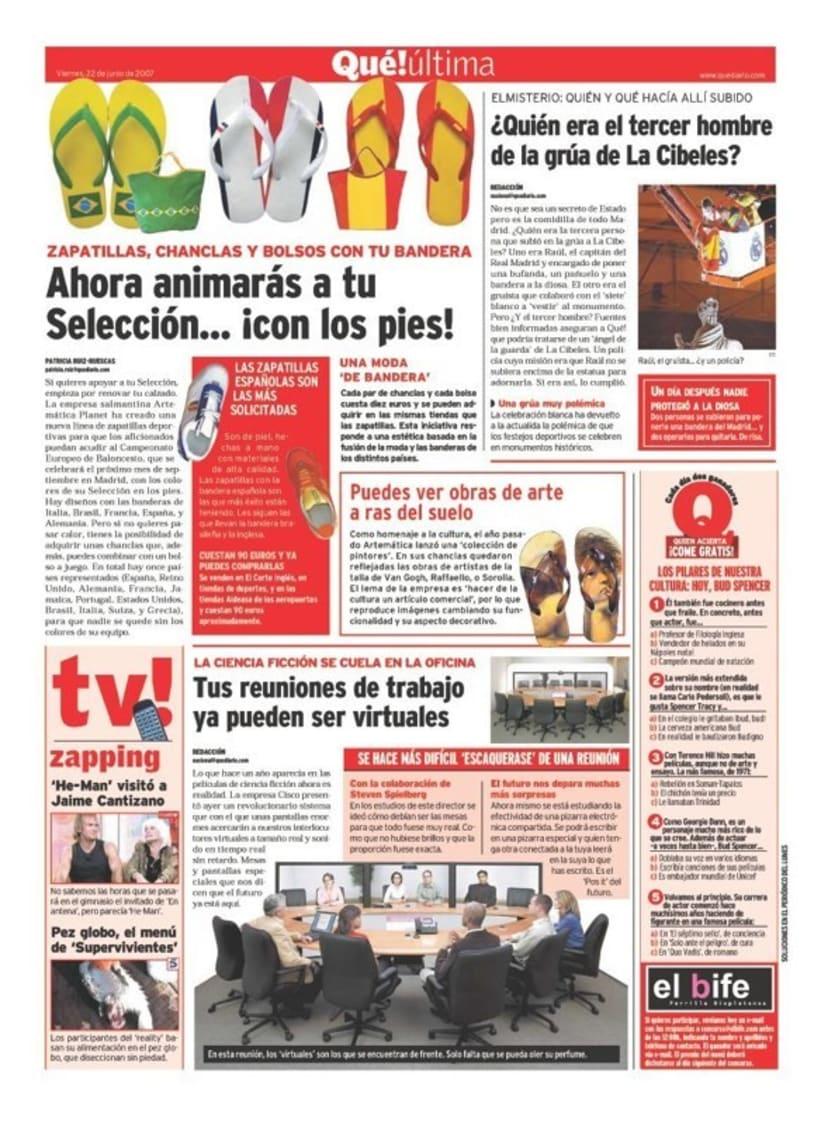 Maquetadora en diario Qué! en diferentes secciones 42