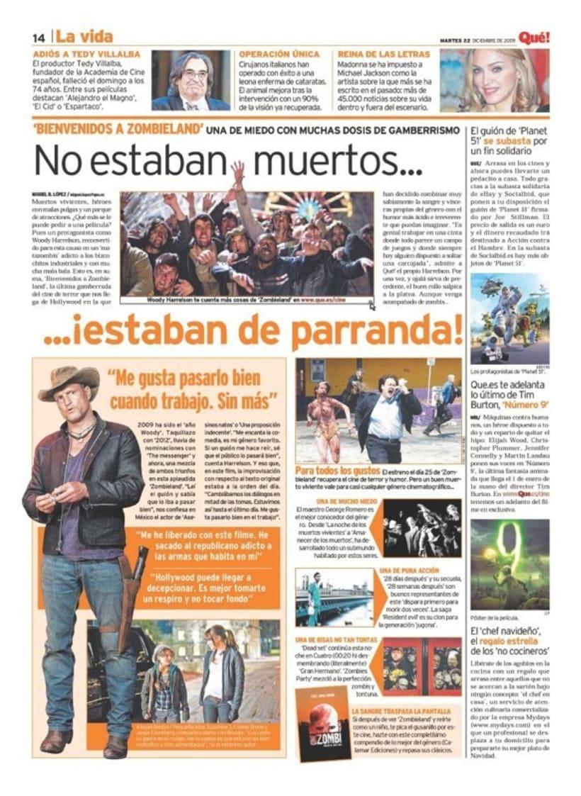 Maquetadora en diario Qué! en diferentes secciones 44