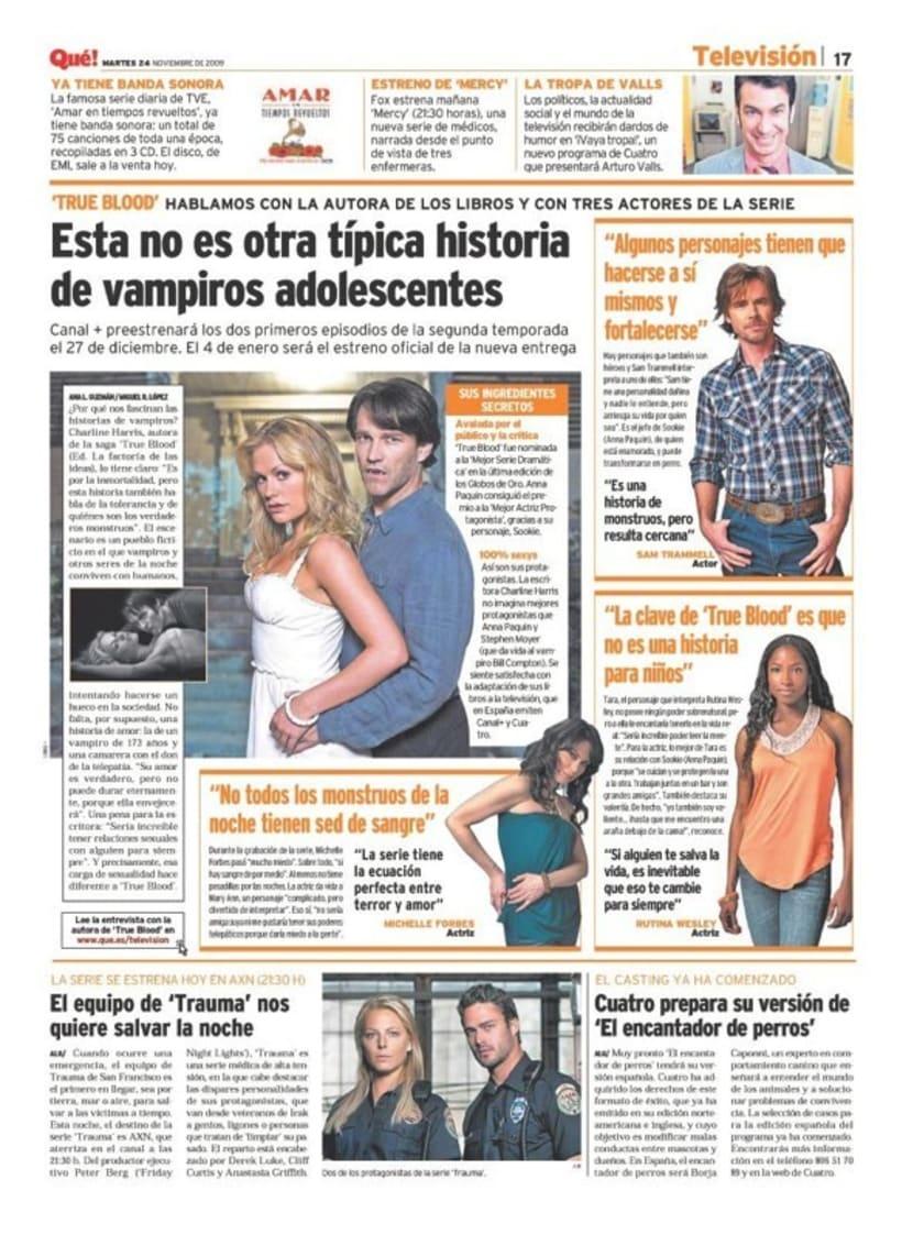Maquetadora en diario Qué! en diferentes secciones 47