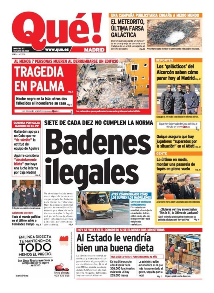 Maquetadora en diario Qué! en diferentes secciones 49