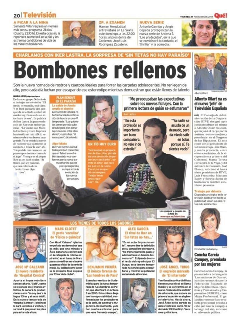 Maquetadora en diario Qué! en diferentes secciones 50