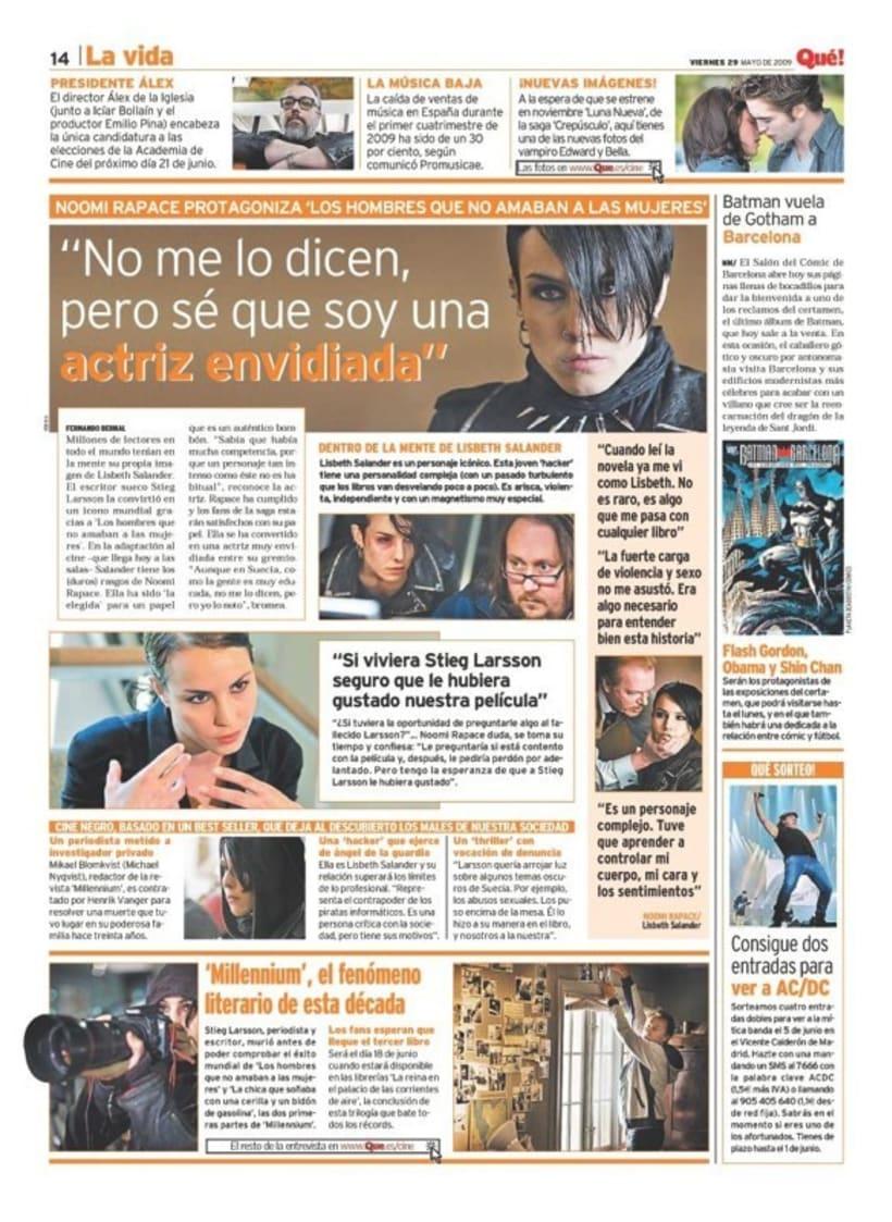Maquetadora en diario Qué! en diferentes secciones 51