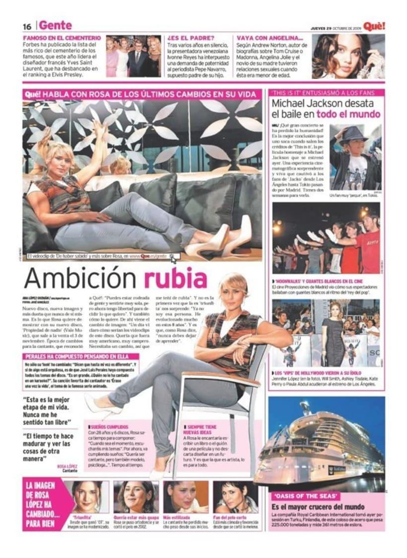 Maquetadora en diario Qué! en diferentes secciones 53