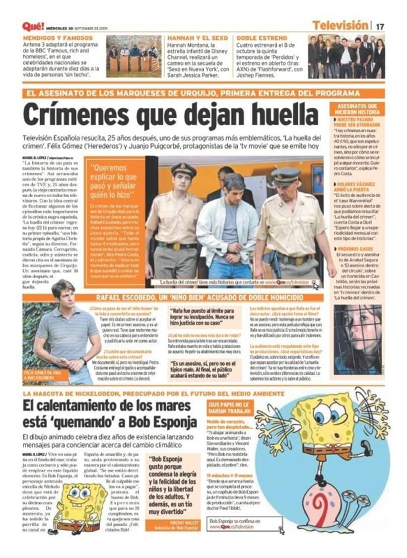 Maquetadora en diario Qué! en diferentes secciones 56