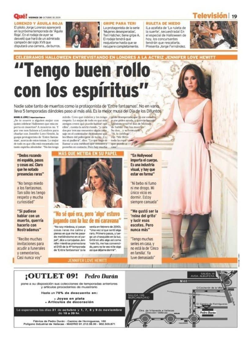 Maquetadora en diario Qué! en diferentes secciones 57