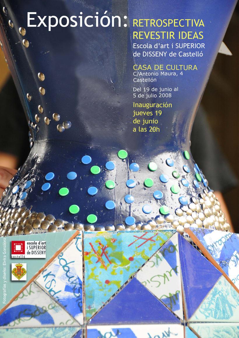 Cartel exposición en la Casa de Cultura de Castellón -1