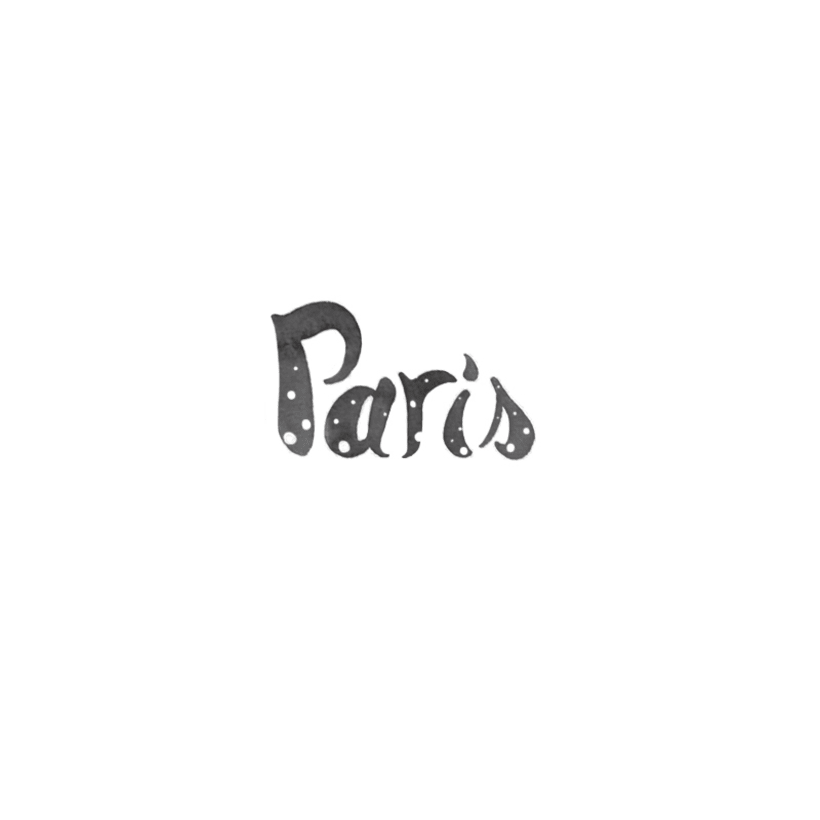 Typography / Watercolor PARIS DOTS -1