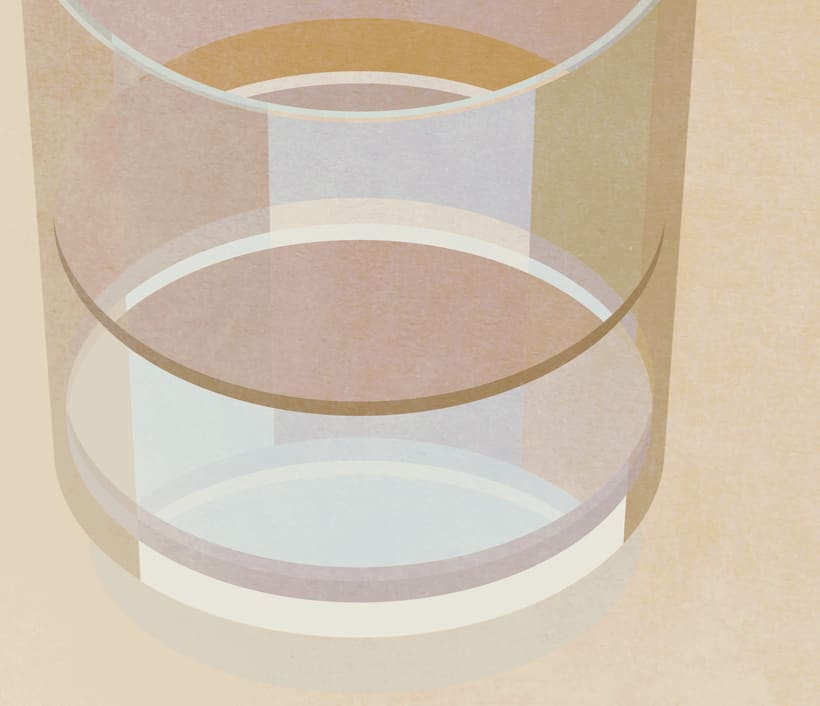 "Cartel ""Un vaso de agua"" 2"