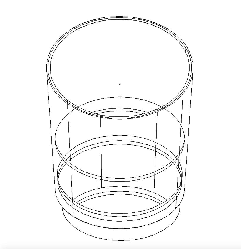 "Cartel ""Un vaso de agua"" 3"