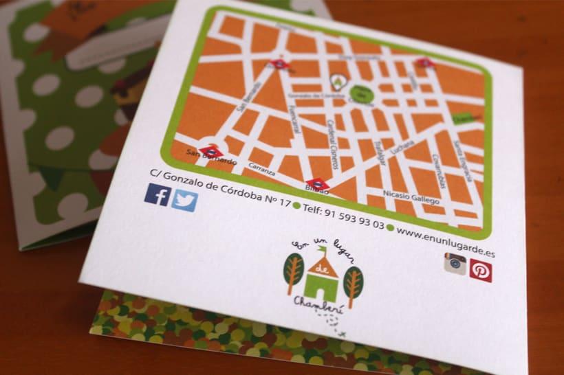 identidad corporativa y tarjetas de invitación ludoteca 4