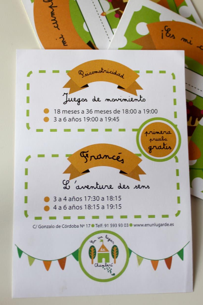 identidad corporativa y tarjetas de invitación ludoteca 5