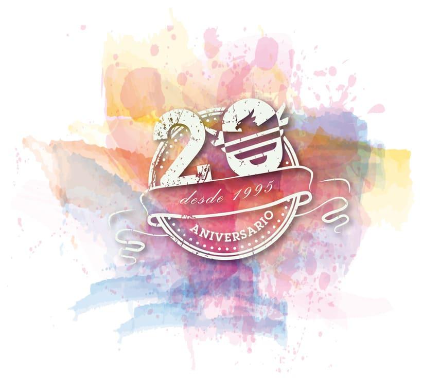 Logo 20 aniversario Elite Merchandising 0