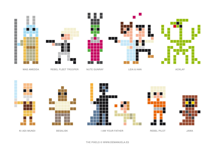 Star Wars Pixels Icons 8