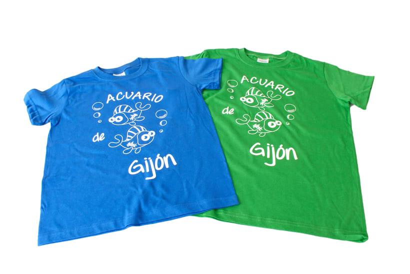 Diseño de camisetas para el Acuario de Gijón -1