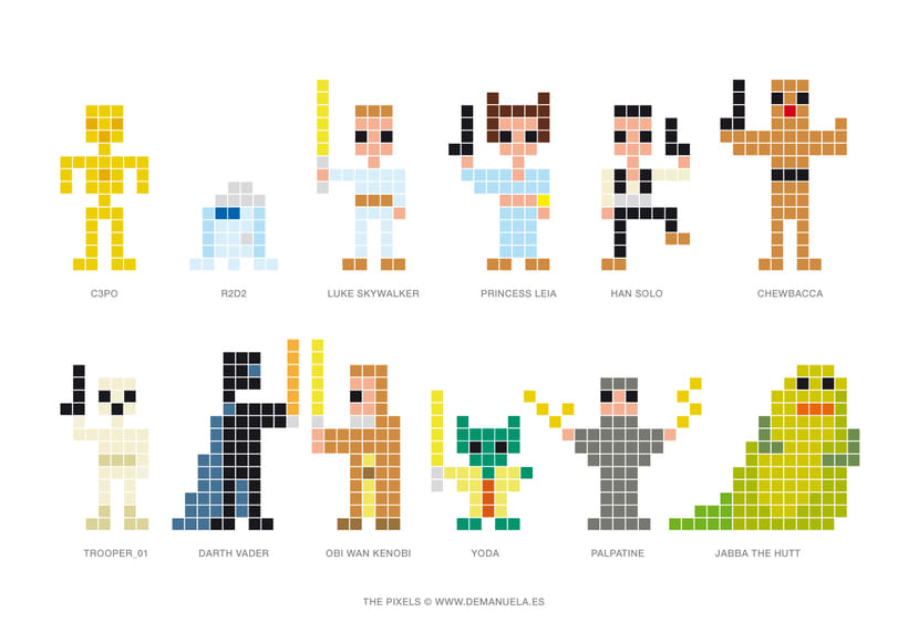 Star Wars Pixels Icons 3