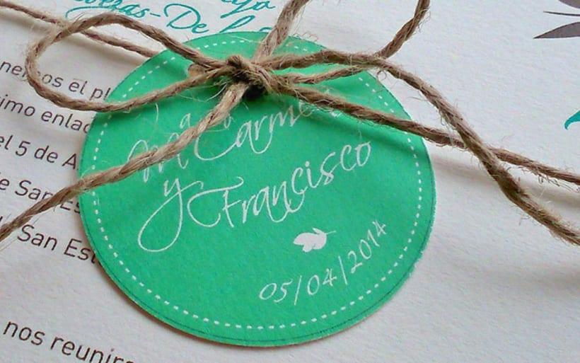 Invitación y papelería de boda Francisco y Mº Carmen 3