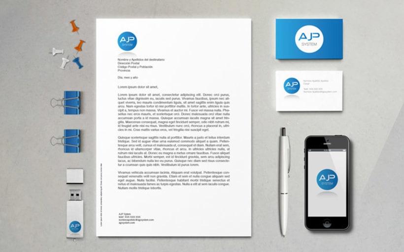 Diseño de logotipo, tarjetas de visita y manual básico 2