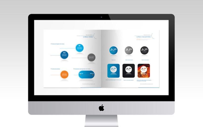 Diseño de logotipo, tarjetas de visita y manual básico 4