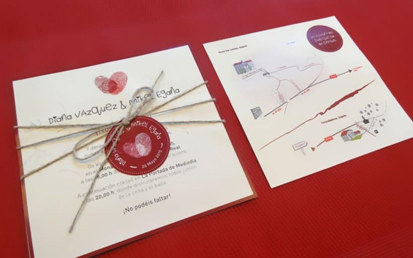 Invitación de boda Diana y Mikel 0