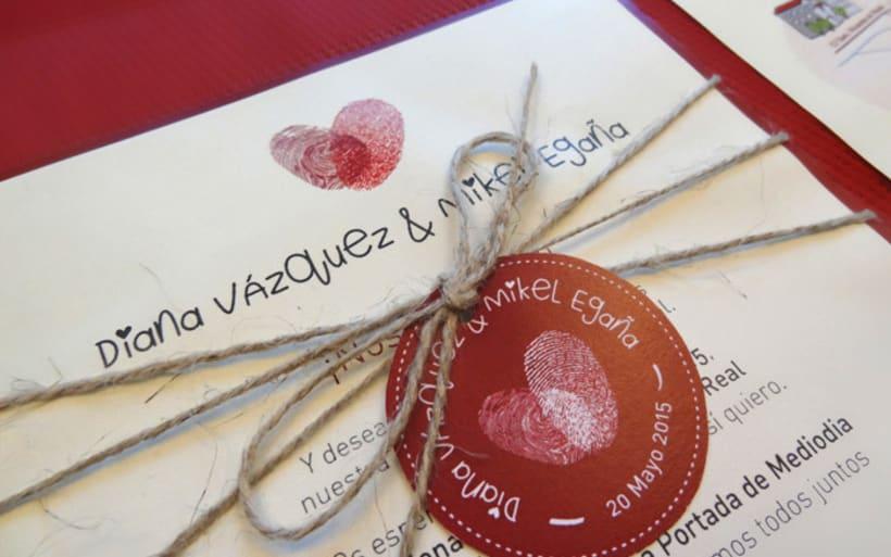 Invitación de boda Diana y Mikel 1
