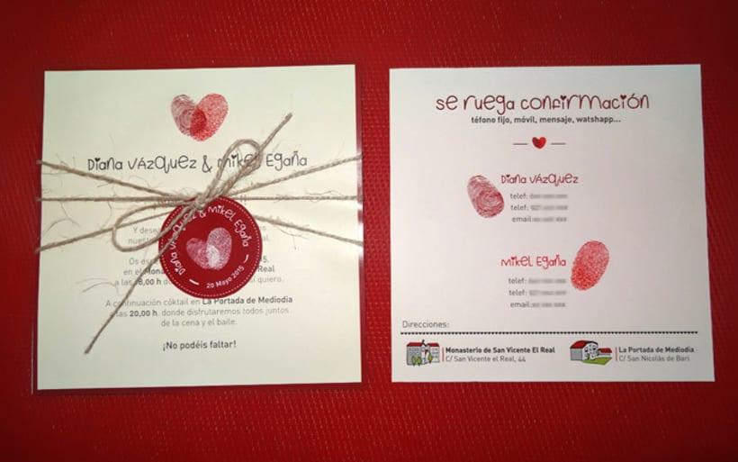 Invitación de boda Diana y Mikel 2