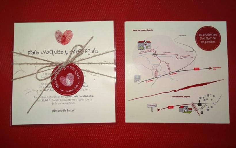Invitación de boda Diana y Mikel 3