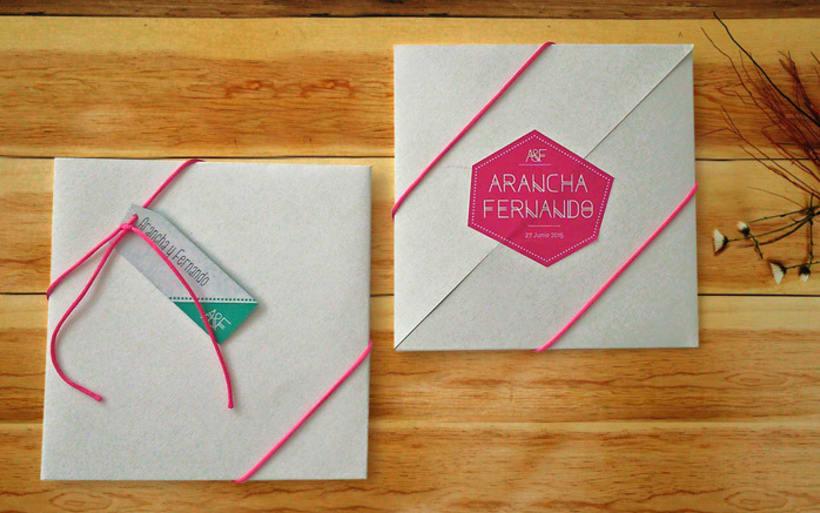 Invitación de Boda moderna y geométrica  -1