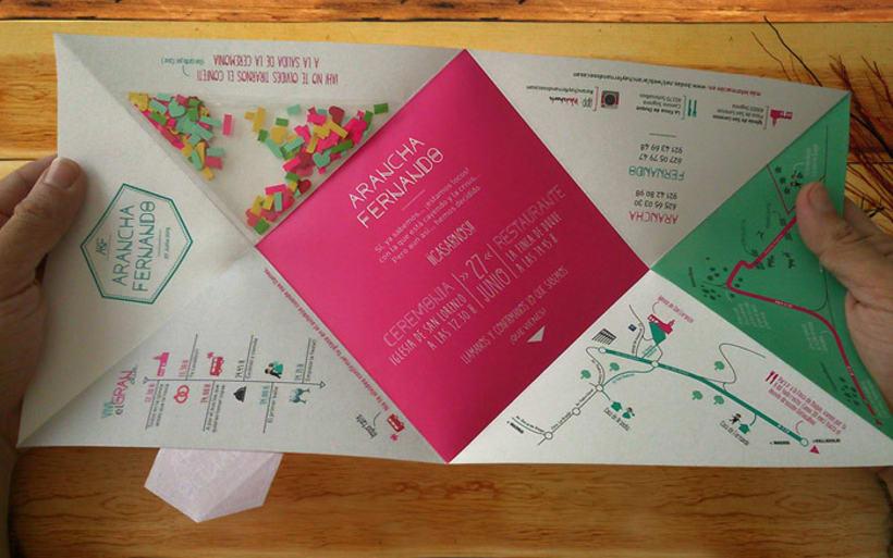 Invitación de Boda moderna y geométrica  6