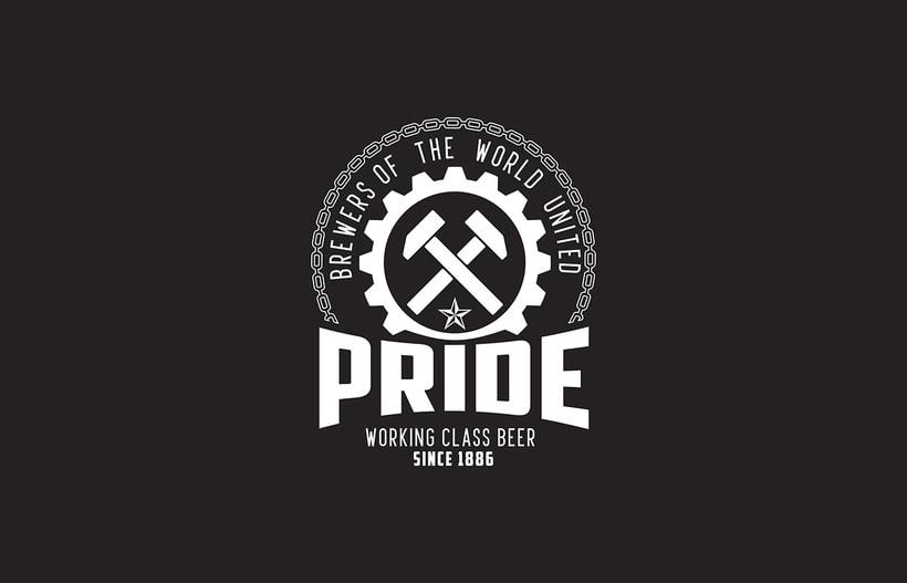 Logotipo, etiquedado y packaging de Cerveza Pride 5