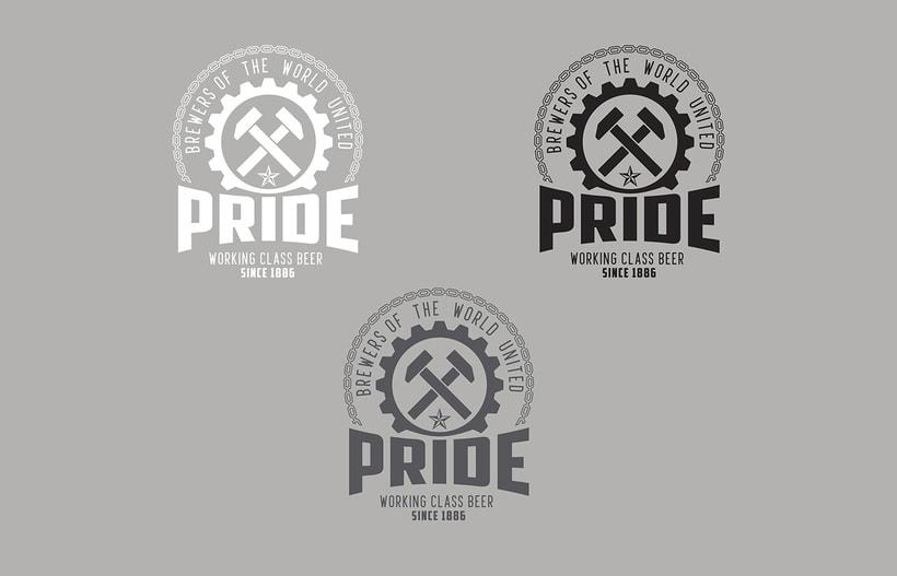 Logotipo, etiquedado y packaging de Cerveza Pride 6