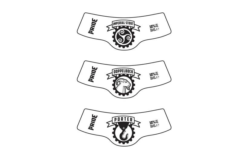 Logotipo, etiquedado y packaging de Cerveza Pride 8