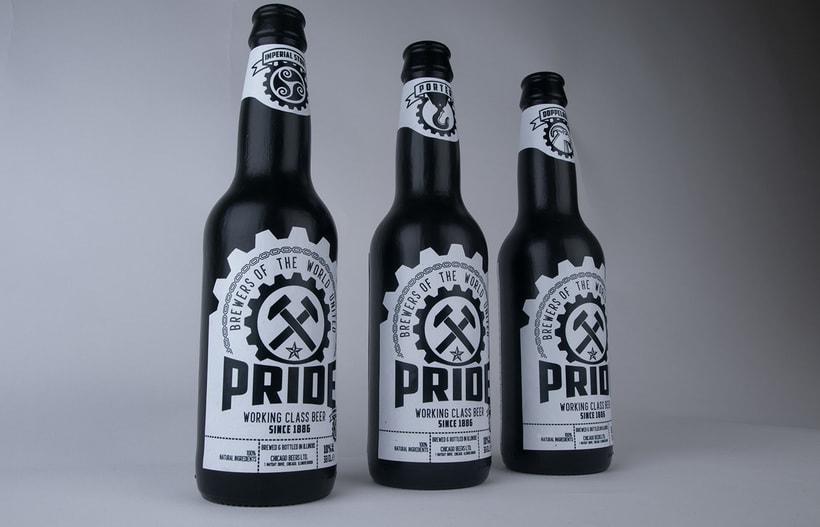 Logotipo, etiquedado y packaging de Cerveza Pride 10