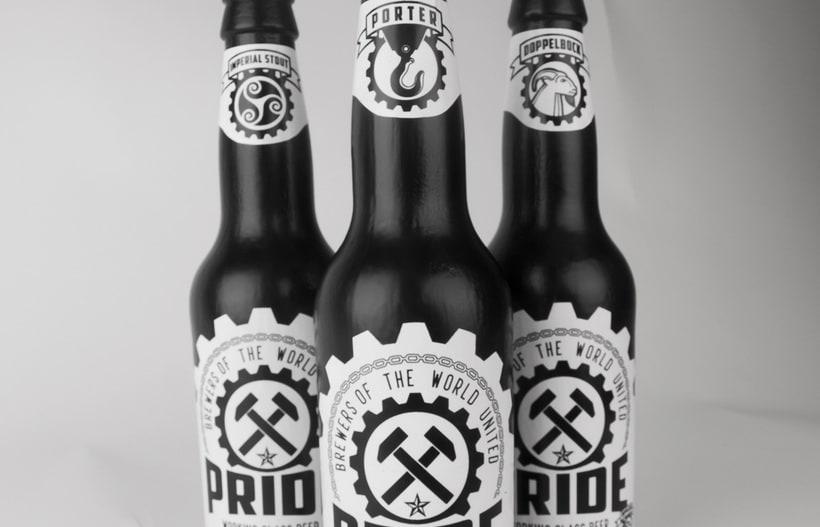 Logotipo, etiquedado y packaging de Cerveza Pride 11