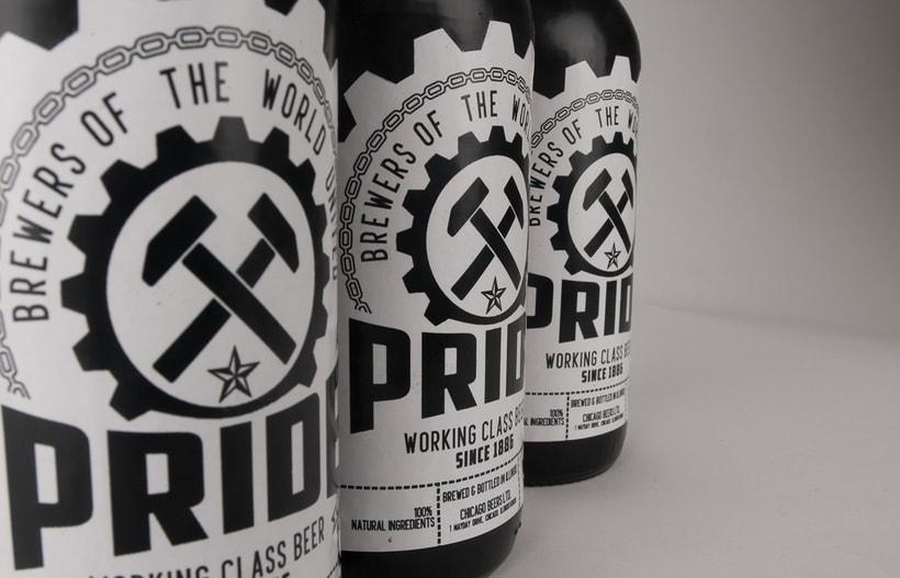 Logotipo, etiquedado y packaging de Cerveza Pride 12