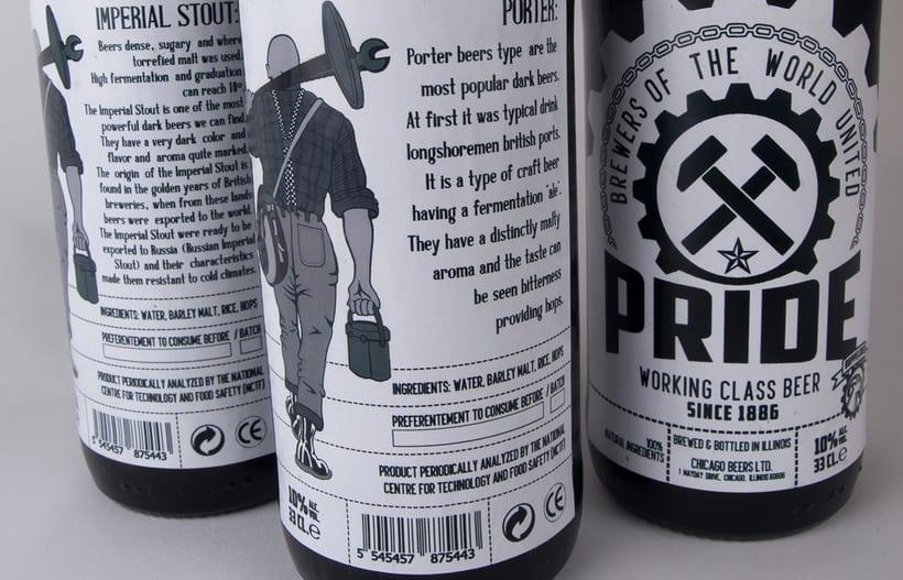 Logotipo, etiquedado y packaging de Cerveza Pride 13